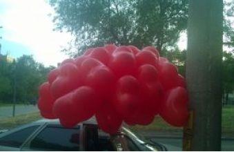 Облако красных сердец для влюбленных.