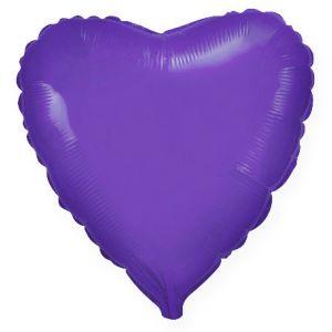 Ф. Сердце (без рис) (32''/81 см) Аэродизайн; Фиолетовый