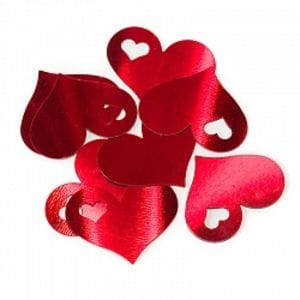 Конфетти -  сердца красные 17гр.