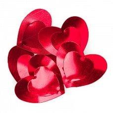 Конфетти -  большие сердца красные 17гр.