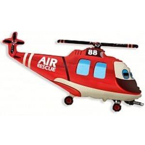Ф. Фигура (38''/97 см) Техника - Вертолет-Спасатель -; Красный