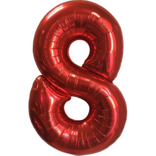 "Ф. Цифры (40''/102 см) Цифры - ""8"" -; Красный"