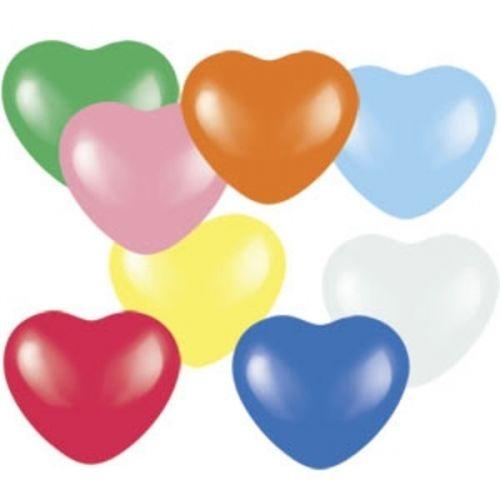 """Л. Сердце (без рис) (10""""/25 см) Сердца без рисунка; Ассорти; Пастель+Декоратор"""