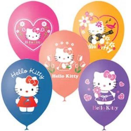 Л. Шар (с рис) (12''/30 см) Мультики1 - Hello Kitty (Хелло Китти) -; Ассорти