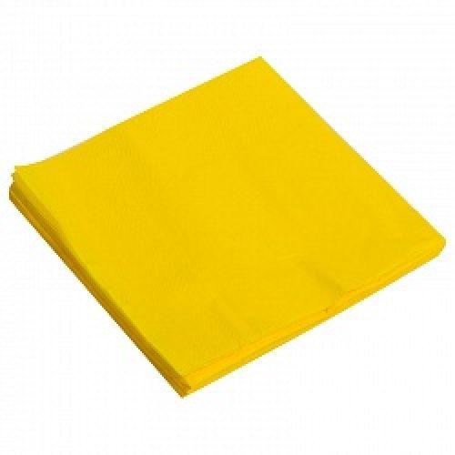 Салфетки - однотонные, желтый, 32х32см, 20шт