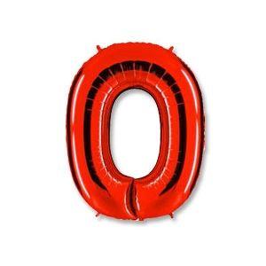 """Ф. Цифра (40''/102 см) Цифры - """"0"""" -; Красный"""