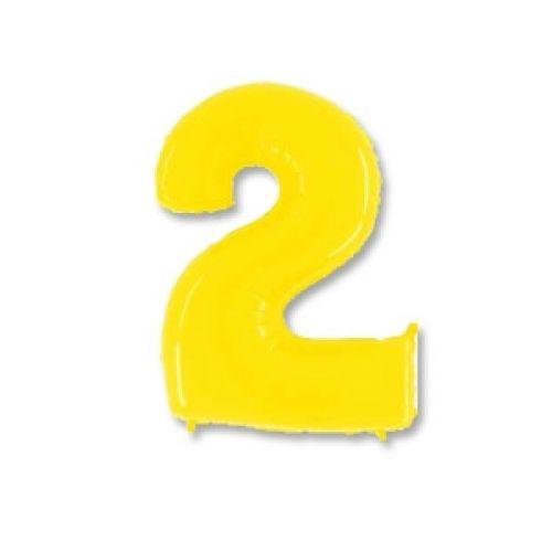 Ф. Цифры (40''/102 см) Цифры - 2 -; Желтый
