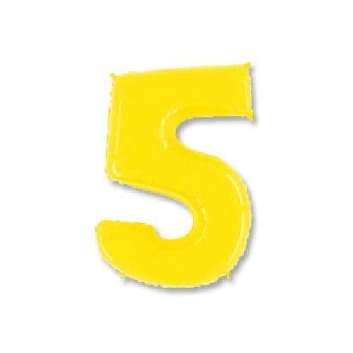 Ф. Цифры (40''/102 см) Цифры - 5 -; Желтый