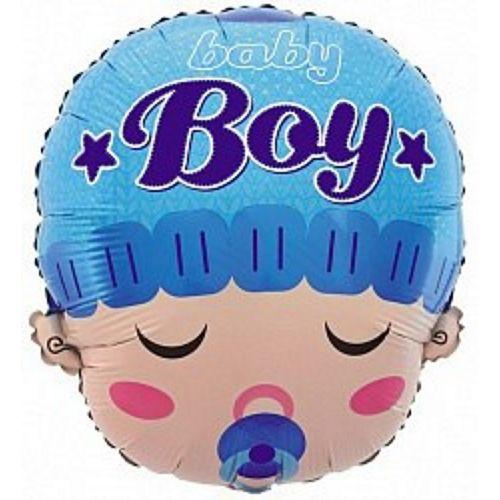Ф. Фигура (18''/46 см) Новорожденные мальчики - Малыш мальчик с соской -; Голубой