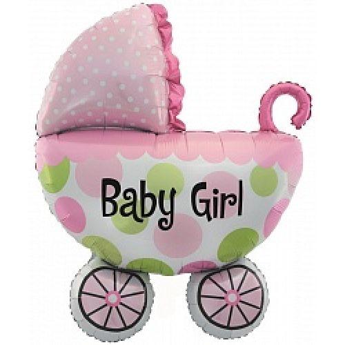 Ф. Фигура (42''/107 см) Новорожденные девочки - Коляска для девочки -; Розовый