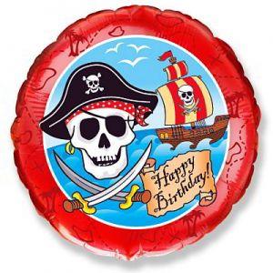 Ф. Круг (с рис) (18''/46 см) С днем рождения - HB Пираты -