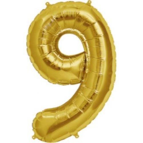 """Ф. Цифры (40''/102 см) Цифры - """"9"""" Италия -; Золото"""