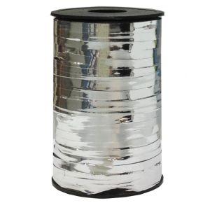 Бобина ленты для шариков металлизированная - Серебро
