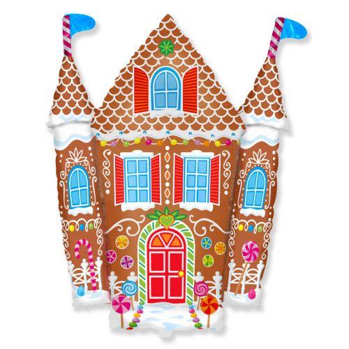 Ф. Фигура (34''/86 см) Новый Год - Пряничный домик -; Коричневый
