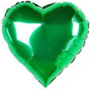 Ф. Сердце (без рис) (18''/46 см) Аэродизайн; Зеленый