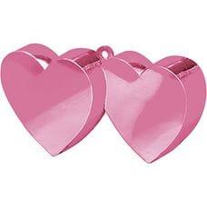 Грузик для шара Два Сердца розовый 170гр