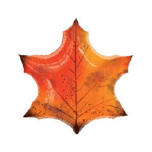 Ф. Фигура (35''/89 см) - Лист Кленовый -; Оранжевый