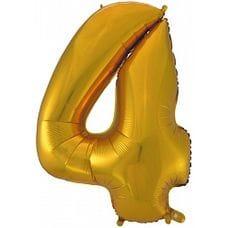 """Ф. Цифра (40''/102 см) Цифры - """"4"""" -; Золото"""