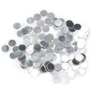 Конфетти -  кружки серебро 17гр.