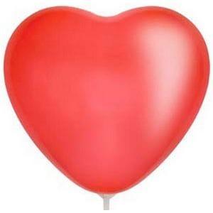 """Л. Сердце (без рис) (15""""/38 см) Сердца без рисунка; Красный (015); пастель"""