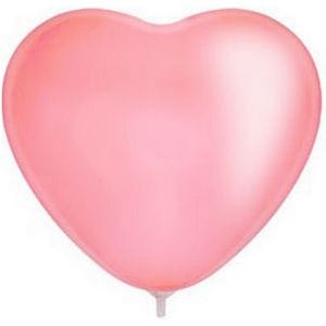 """Л. Сердце (без рис) (15""""/38 см) Сердца без рисунка; Розовый; пастель"""