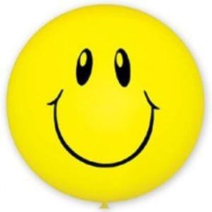 Л. Шар (с рис) (36''/91 см) Большие шары - Смайл -; Желтый