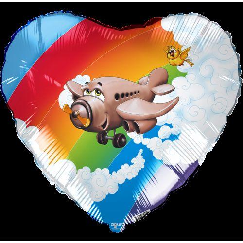 Ф. Сердце (с рис) (18''/46 см) Техника - Самолет -
