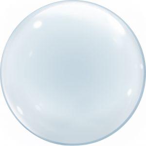 Ф. 3D СФЕРА (18''/46 см) ВUBBLES - Deco Bubbles -; Прозрачный