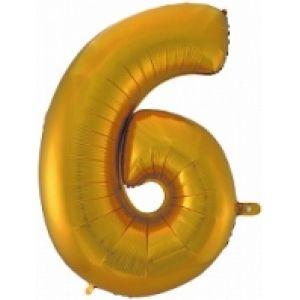 """Ф. Цифры (40''/102 см) Цифры - """"6"""" / """"9"""" -; Золото"""