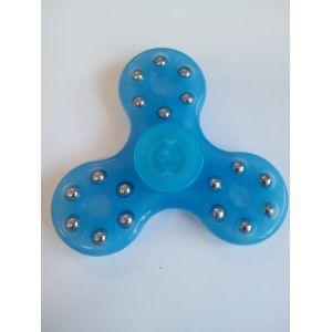 Спиннер -  голубой с шариками (три лопасти)