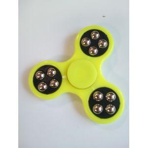 Спиннер -  Желтый с шариками (три лопасти)