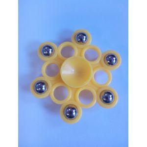 Спиннер -  шестиугольник желтый