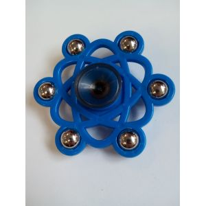 Спиннер -  шестиугольник синий