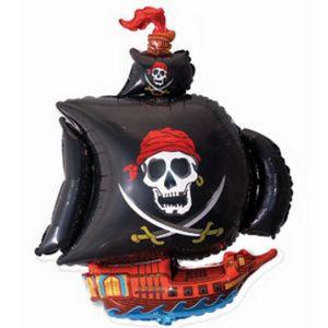 Ф. Фигура (41''/104 см) Мальчики - Пиратский корабль -; Черный