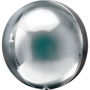Ф. 3D СФЕРА (16''/40 см) ВUBBLES; Серебро