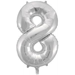 "Ф. Цифра (34''/86 см) Цифры - ""8"" -; Серебро"