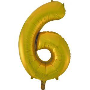 """Ф. Цифра (34''/86 см) Цифры - """"6"""" -; Золото"""
