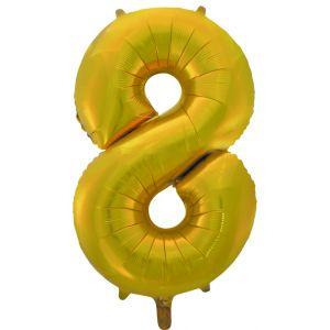 """Ф. Цифра (34''/86 см) Цифры - """"8"""" -; Золото"""