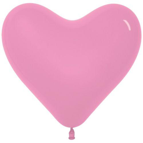 Л. Сердце (без рис) (12''/30 см) Сердца без рисунка; Розовый; пастель