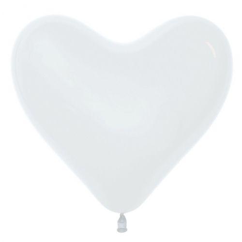 Л. Сердце (без рис) (12''/30 см) Сердца без рисунка; Белый; пастель