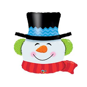 Ф. Фигура (36''/91 см) Новый Год - Снеговик голова -; Белый