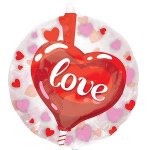 Ф. Фигура (24''/61 см) - ДЖАМБО Love Сердце -; Красный
