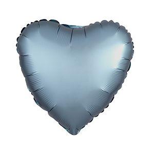 Ф. Сердце (без рис) (18''/46 см) Аэродизайн - Сатин -; Серый
