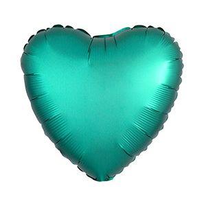Ф. Сердце (без рис) (18''/46 см) Аэродизайн - Сатин -; Зеленый