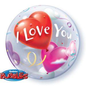 Б. Bubbles (22''/56 см) ВUBBLES - Шар Сердца -