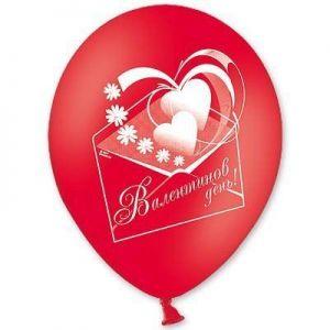 Л. Шар (с рис) (12''/30 см) Романтика2 - Валентинов День -; Красный