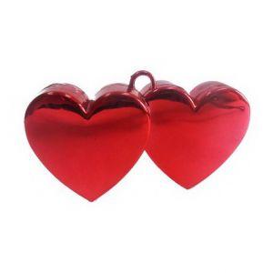 Грузик для шара Два Сердца красный 170гр
