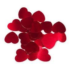 Конфетти -  Маленькие сердечки, Красный, 17гр.