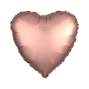Ф. Сердце (без рис) (18''/46 см) Аэродизайн - Сатин -; Розовое Золото