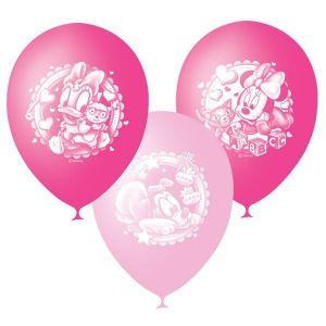 Л. Шар (с рис) (12''/30 см) Новорожденные девочки - Дисней Малышка -; Розовый; Пастель+Декоратор